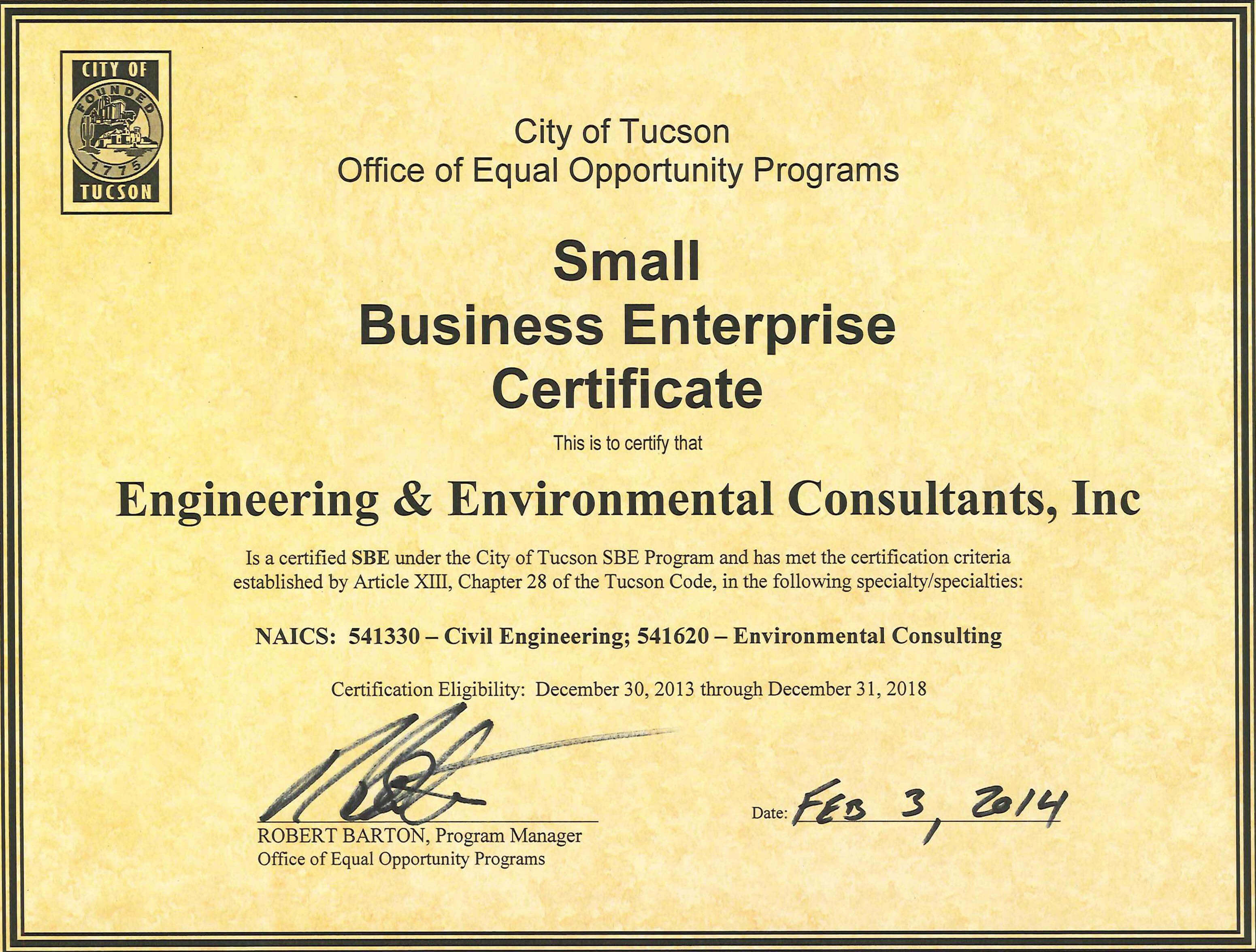 Eec certified as a small business enterprise with the city of back to news xflitez Images
